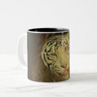 Caneca De Café Em Dois Tons É segunda-feira aqui é seu Tiger Cup