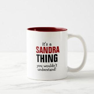 Caneca De Café Em Dois Tons É uma coisa que de Sandra você não compreenderia!