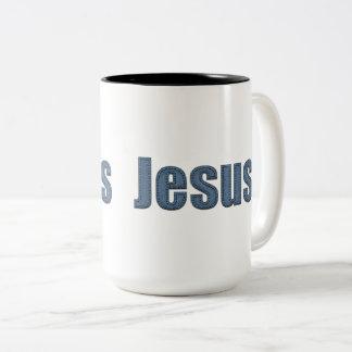 Caneca De Café Em Dois Tons Efeito material Jesus de Jean