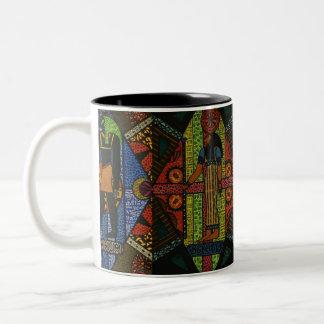 Caneca De Café Em Dois Tons Egyptian Gods