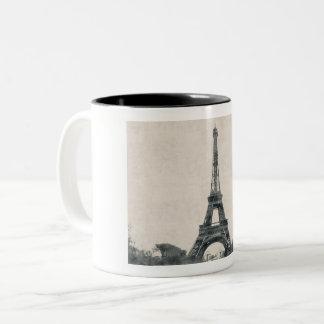 Caneca De Café Em Dois Tons Eiffelturm, Paris, França - taça