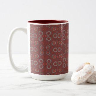 Caneca De Café Em Dois Tons Encontre o coelho, o teste padrão rústico, as