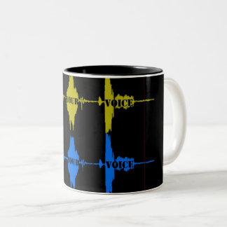 Caneca De Café Em Dois Tons Encontre sua voz
