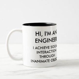 Caneca De Café Em Dois Tons Engenheiro engraçado