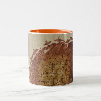 Caneca De Café Em Dois Tons Escarlate de Ixora
