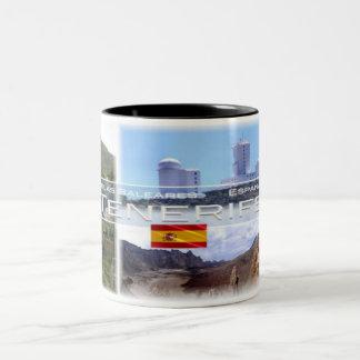 Caneca De Café Em Dois Tons Espanha - Espana - Ilhas Canárias - Tenerife -