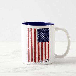 """Caneca De Café Em Dois Tons """"Estabeleceu 1776"""" copos de café"""