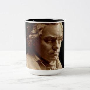 e25c690b749 Caneca De Café Em Dois Tons Estátua do busto de Beethoven