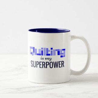 Caneca De Café Em Dois Tons Estofar é minha superpotência no azul