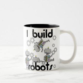 Caneca De Café Em Dois Tons Eu construo robôs