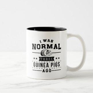 Caneca De Café Em Dois Tons Eu era três cobaias normais há