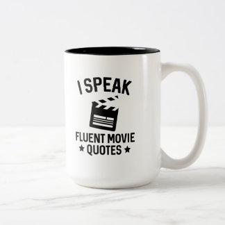 Caneca De Café Em Dois Tons Eu falo citações fluentes do filme