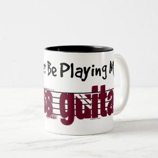 Caneca De Café Em Dois Tons Eu preferencialmente estaria jogando minha