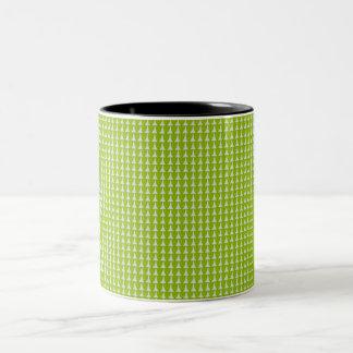 Caneca De Café Em Dois Tons EVERGREEN-Green-Pattern-11 OZ.Mug
