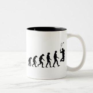 Caneca De Café Em Dois Tons Evolução do Badminton
