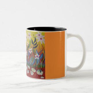 Caneca De Café Em Dois Tons Explosão das cores para fazer seu dia um pouco