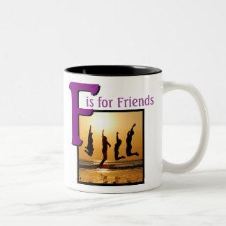 Caneca De Café Em Dois Tons F para amigos