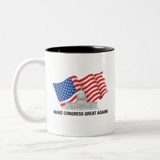 Caneca De Café Em Dois Tons Faça o excelente do congresso outra vez agredir