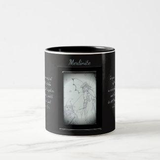 Caneca De Café Em Dois Tons Fada do cristal de Merlinite
