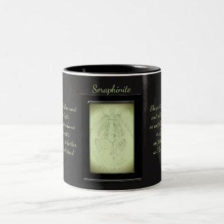 Caneca De Café Em Dois Tons Fada do cristal de Seraphinite