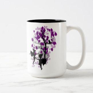 Caneca De Café Em Dois Tons Fae vê a caneca/copo do tom do Faun dois