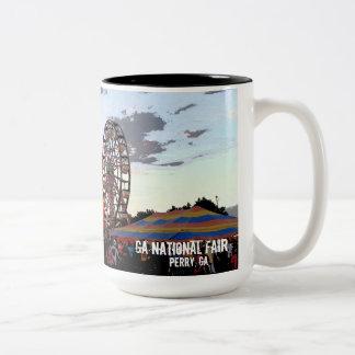 Caneca De Café Em Dois Tons Feira nacional de Geórgia, Perry GA