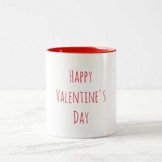 Caneca De Café Em Dois Tons Feliz dia dos namorados