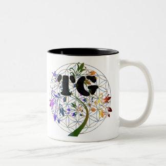 Caneca De Café Em Dois Tons Flor do TG do copo de chá do copo de café do