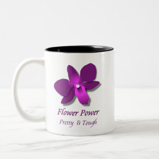 Caneca De Café Em Dois Tons Flower power