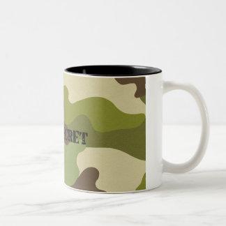 Caneca De Café Em Dois Tons Forças armadas extremamente secretos da camuflagem