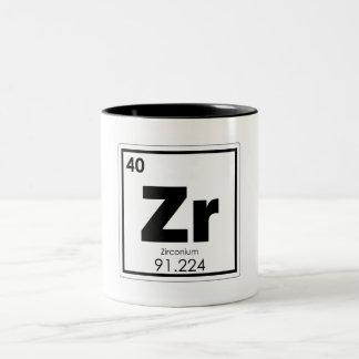 Caneca De Café Em Dois Tons Formul da química do símbolo do elemento químico