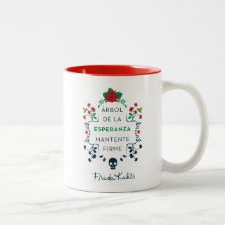 Caneca De Café Em Dois Tons Frida Kahlo | Árbol De La Esperanza