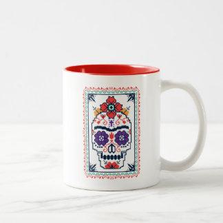 Caneca De Café Em Dois Tons Frida Kahlo | Calavera