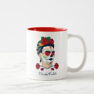 Caneca De Café Em Dois Tons Frida Kahlo | EL Día de los Muertos