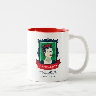 Caneca De Café Em Dois Tons Frida Kahlo | Inspiración