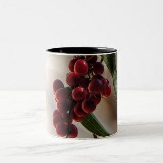 Caneca De Café Em Dois Tons Fruta vermelha