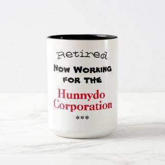 Caneca De Café Em Dois Tons Funcionamento aposentado para o Hunnydo Corporaçõ