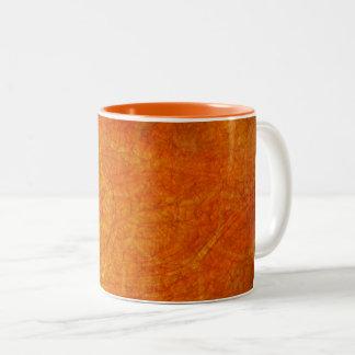 Caneca De Café Em Dois Tons fundo abstrato da laranja