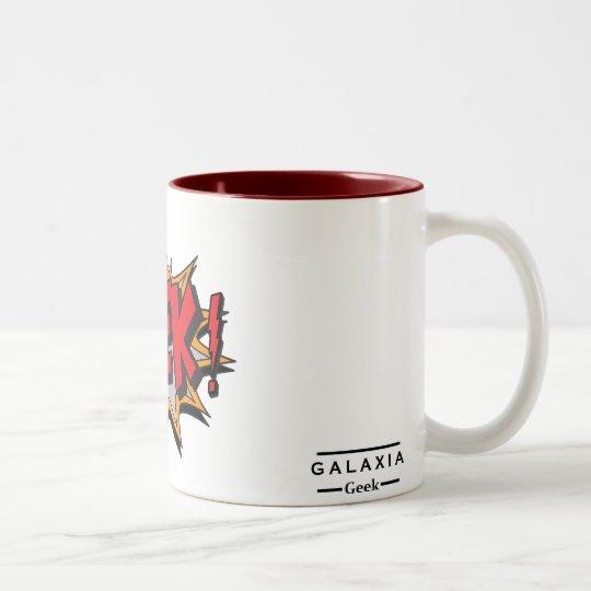 Caneca De Café Em Dois Tons GEEK! - Galaxia Geek