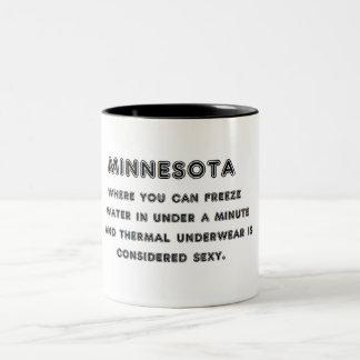 Caneca De Café Em Dois Tons Gelo de Minnesota