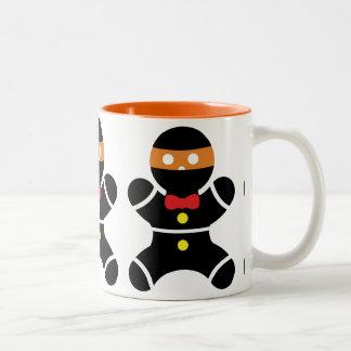 Caneca De Café Em Dois Tons Gengibre Ninja de Customizeable de duas cores
