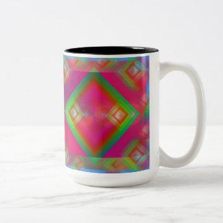Caneca De Café Em Dois Tons Geométrico