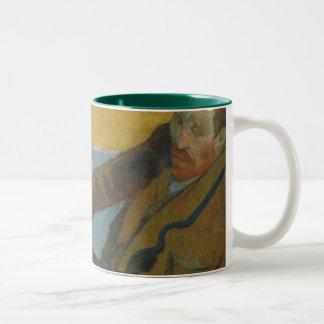 Caneca De Café Em Dois Tons Girassóis da pintura de Van Gogh por Paul Gauguin