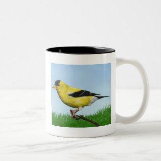 Caneca De Café Em Dois Tons Goldfinch