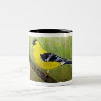 Caneca De Café Em Dois Tons Goldfinch Birdwatchers