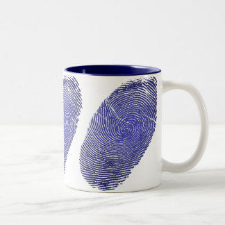 Caneca De Café Em Dois Tons Gráfico da impressão digital