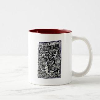 Caneca De Café Em Dois Tons Guerreiro alfa, por Brian Benson.  Tinta A4 que