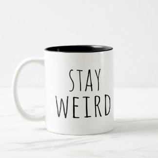 Caneca De Café Em Dois Tons Hipster estranho da estada engraçada ingénuo