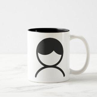 Caneca De Café Em Dois Tons Homem