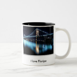 Caneca De Café Em Dois Tons I love Floripa